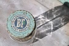 """Vintage Best Foods Jar with Lid, 4"""" Clear Glass, Circa 1950's"""