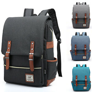 Details about Mens Canvas Backpack School
