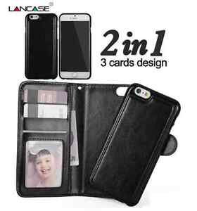 brand new c4eb8 e265e Details about Apple Iphone 5s / 5/Se leather wallet case with detachable  magnetic phone holder