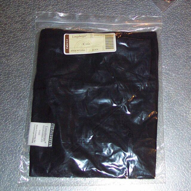 Longaberger Black CAKE Basket Liner ~ Brand New in Original Longaberger Package!