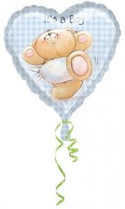 Its A Boy New Born Baby Heart Forever Friends Anagram Foil Balloon Large