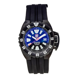 Luminox-Deep-Dive-1501-Men-039-s-Black-Round-Stainless-Steel-Case-Swiss-Watch