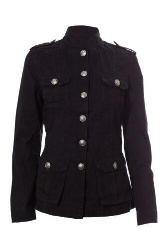 NEU Damen Damen Baumwolle viele Taschen Militär roh Look Sommerjacke