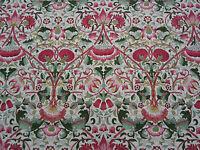 William Morris Curtain Fabric  'Lodden' 1.5 METRES Rose/Thyme  100% Cotton