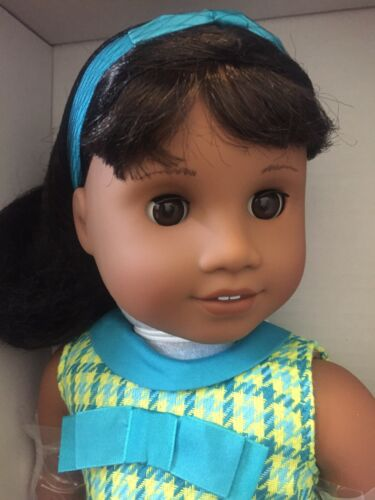 """NEW in Box American Girl 18/"""" MELODY Doll with Book Outfit Dark Skin Black Hair"""