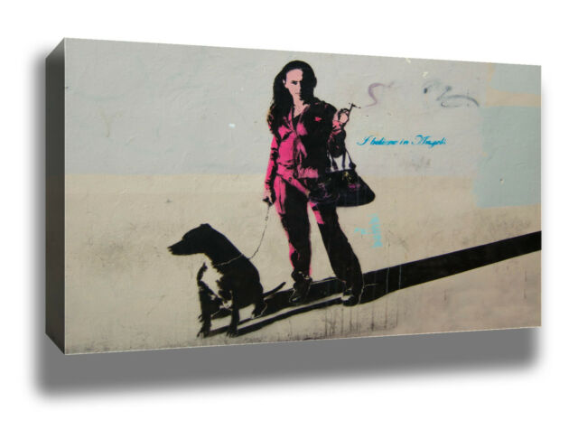 BAMBI I BELIEVE IN ANGELS MODERN GRAFFITI STREET ART QUALITY WALL CANVAS PRINT