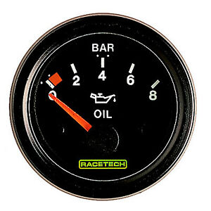 TIM Fuel Level Gauge 52mm Diameter  Electrical Operation Race//Rally//Motorsport