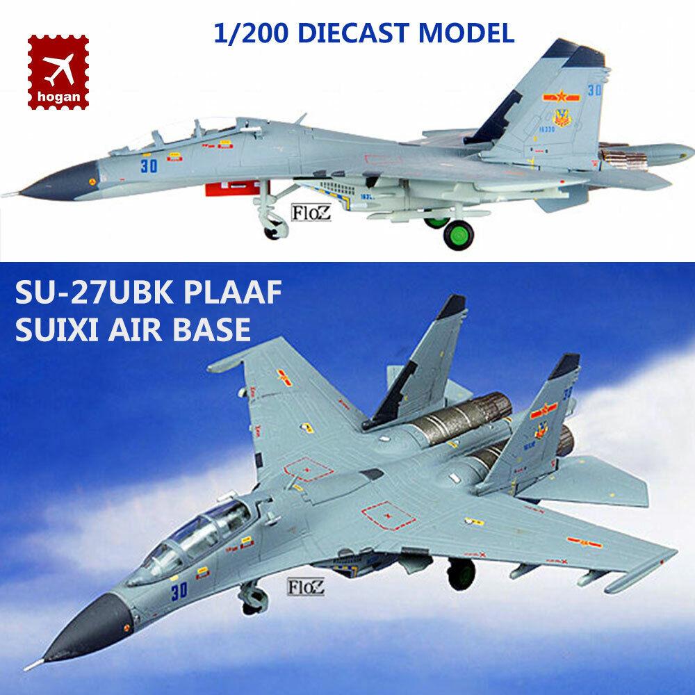 Su-27UBK PLAAF SUIXI AIR BASE 1 200 diecast plane model aircraft Hogan