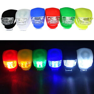 HOT LED Bicycle Bike Silicone Frog Light Front Rear Firm Safety Lamp 3 Models