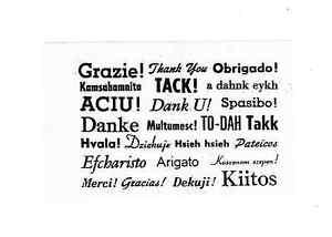multi language thank you x24 unmountd rubber stamp ebay