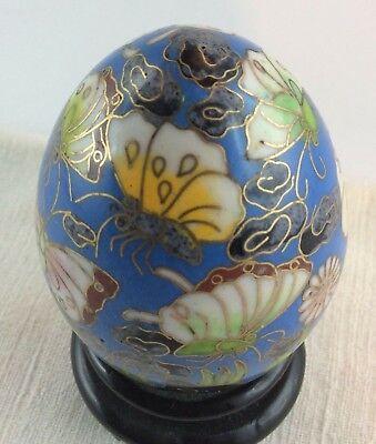Cloisonne Osterei China ,älter,sammler,vitrine,osterschmuck,schmetterling Ideales Geschenk FüR Alle Gelegenheiten