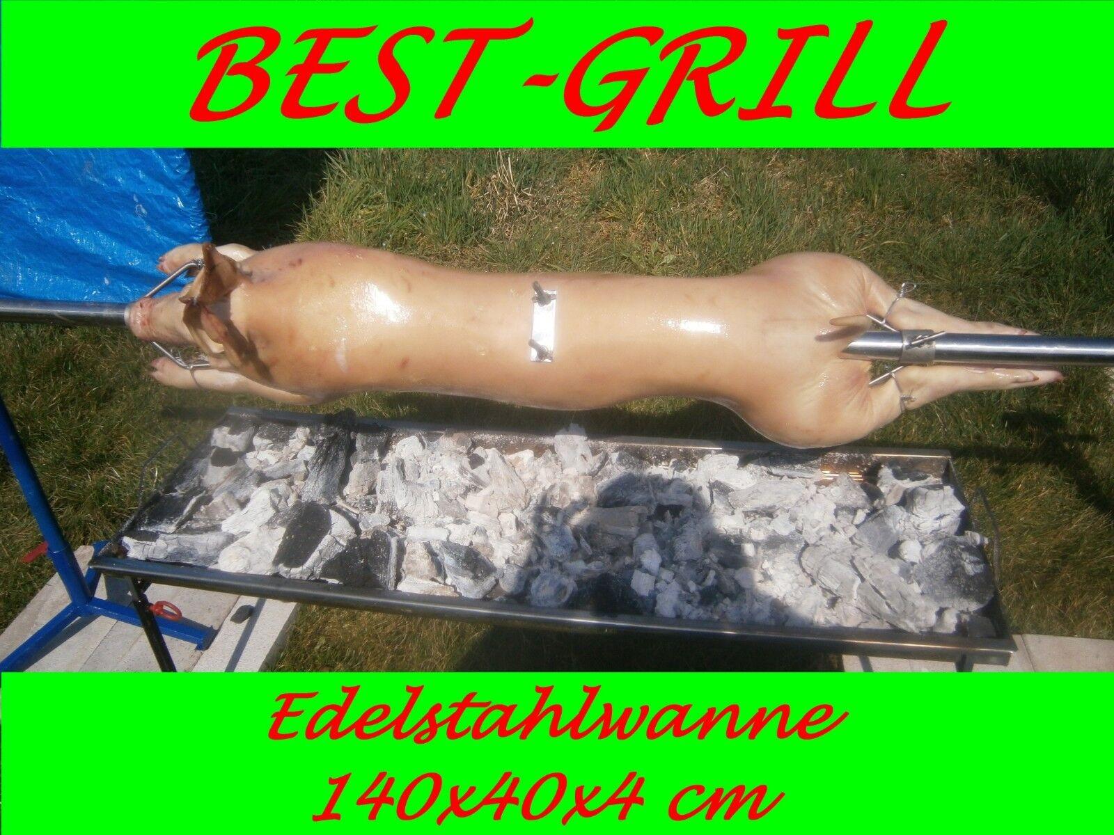 Best-Grill-XXL-spanferkelgrill, lammgrill,, tina de acero inoxidable 140 CM, 70 cm de alto