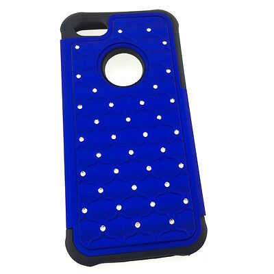 "iPhone 5C Cute Hybrid Diamond Jeweled Tough Armour Back Cover Case 4"" Canada"