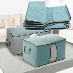 Foldable-Storage-Bag-Box-Quilt-Clothes-Pillow-Blanket-Organizer-Closet-Pouch-YUX