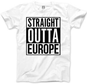 New Unisex Straight Outta Europe Short Sleeve Novelty T-Shirt  Black