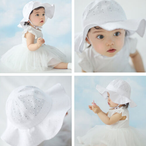 EG/_ Toddler Baby Girl Summer Wide Brim Sun Protection Beach Cotton Hat Novelty