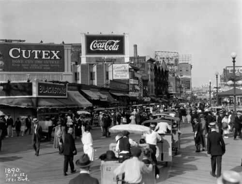 3354.Photography from 1922.Atlantic City Boardwalk POSTER.Home Room art decor