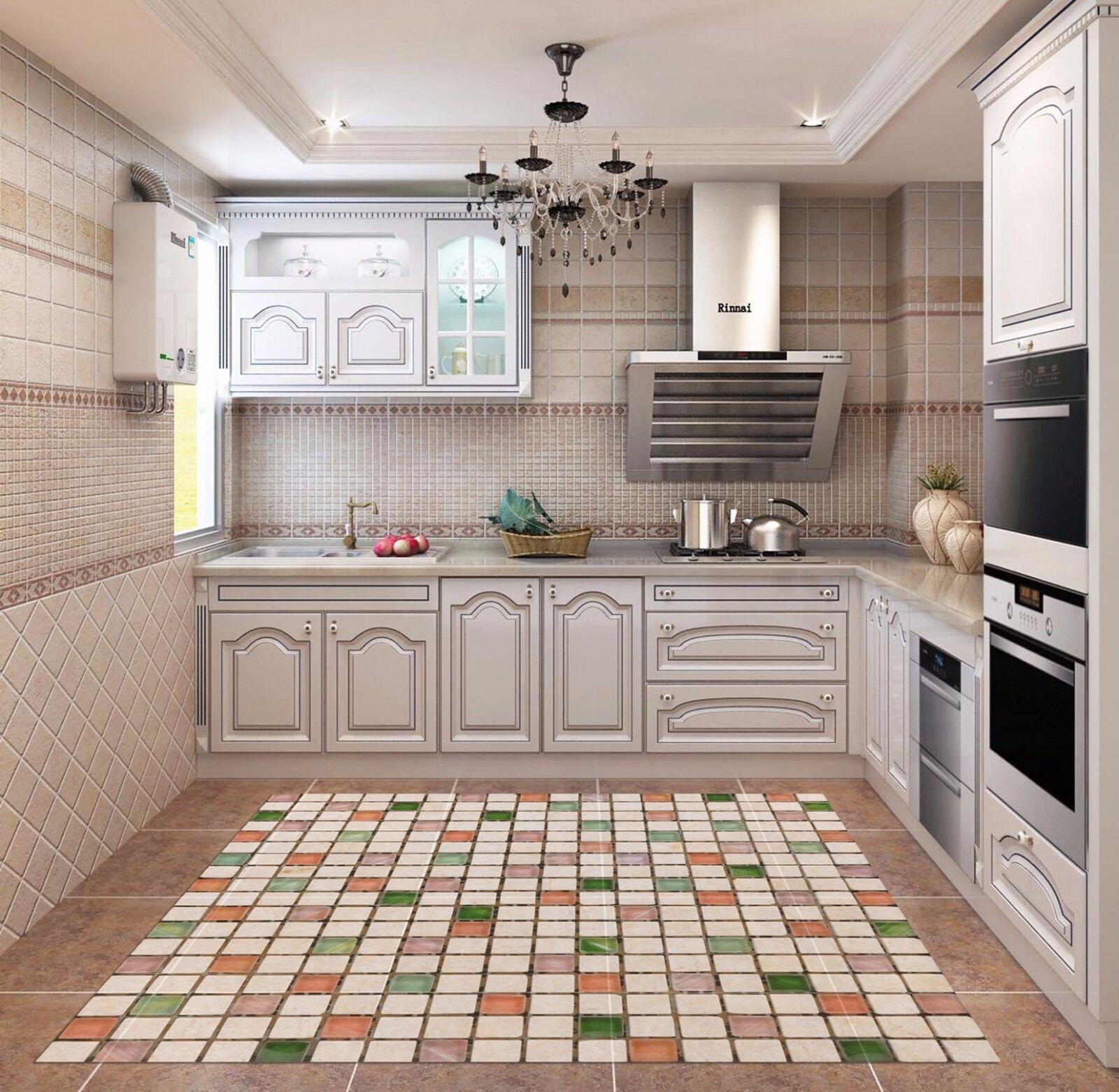 3D Marble Lattice Kitchen Mat Floor Murals Wall Print Wall Deco AJ WALLPAPER AU
