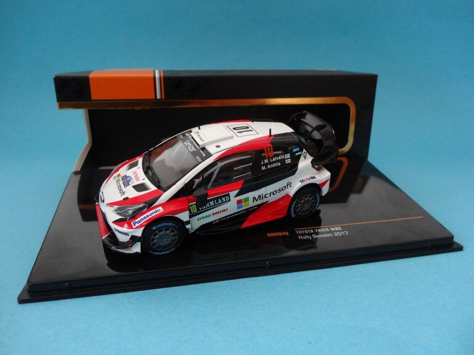Toyota Yaris WRC Latvala - Winner Rally Sweden 2017 - 1 43 New Ixo Ram648