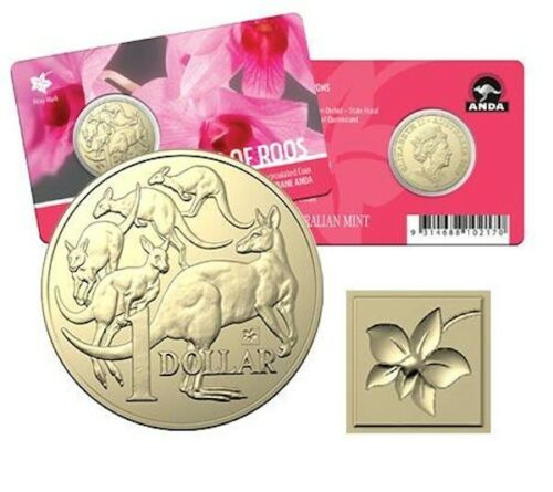 2019 $1 Cooktown Orchid Privy Mark ANDA Mob of Roos