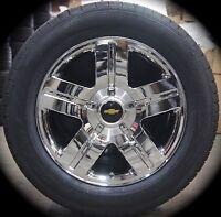 Chevy Silverado Tahoe Suburban Avalanche Chrome Texas 20 Wheels Rims Tires