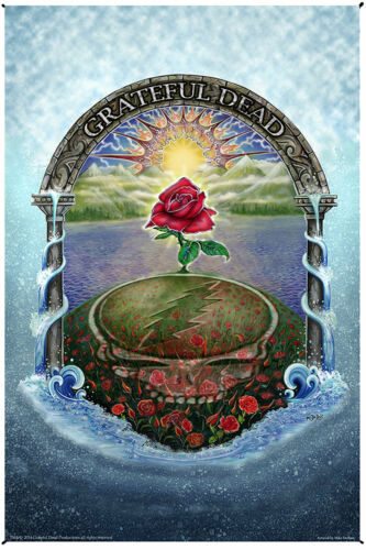 GRATEFUL DEAD-ROSE GARDEN-MIKE DUBOIS-30X45 or 53X85 TAPESTRY Garcia,Lesh.Wier