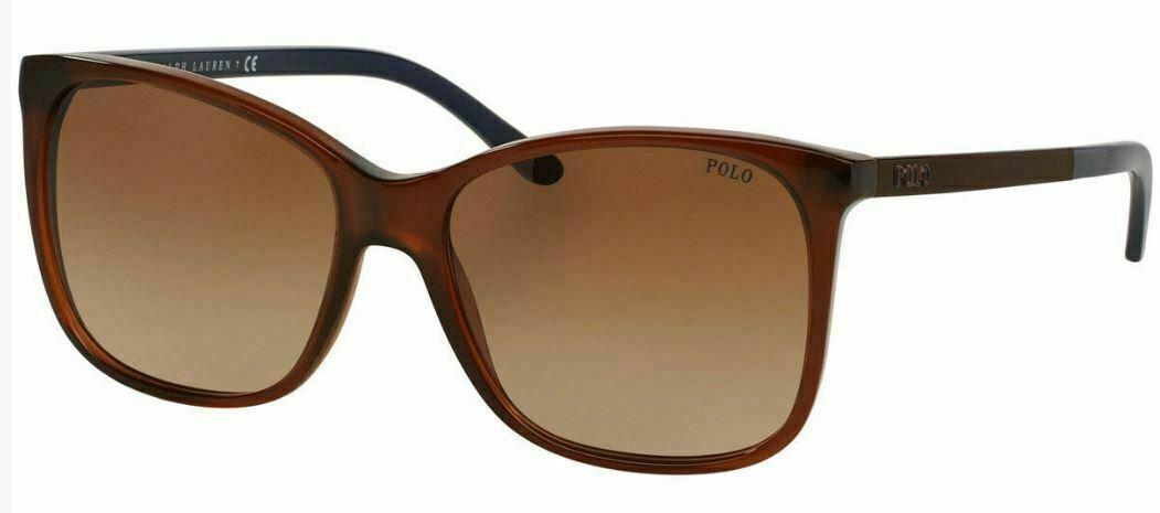 NEW AUTHENTIC POLO RALPH LAUREN PH4094 5530/13 Brown/Brown Women Sunglasses 55mm