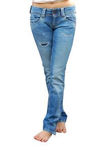 Bassa W27 Nuovo Jeans Pepe L32 London Pantaloni Vita Dritto Donna SYwHwaq