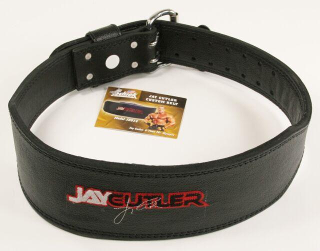 "Schiek 4""Jay Cutler Signature J2014 Leather Padded Weight Lifting Belt NEW LOGO"