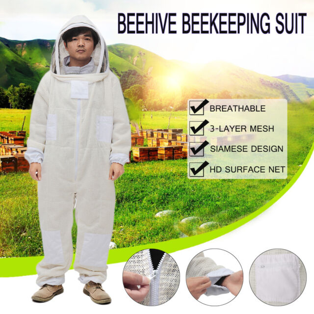 Beekeeping Bee Suit Ventilated Ultra Breathable 3 Layer Mesh Bundle Large