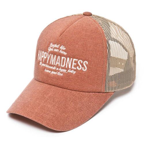 Happy Madness Embroidered Mesh Cap  Baseball Cap Trucker Hat