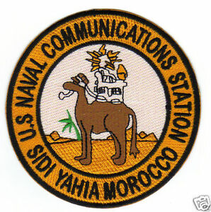 Naval Communications Station Sidi Yahia Morocco Patch Full Color