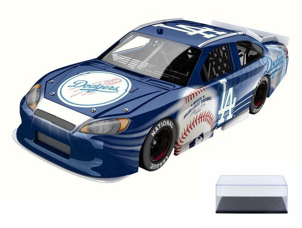DIECAST CAR & CASE LOS ANGELES DODGERS 2012 FORD FUSION & LIONEL NASCAR 1 24