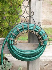 FRENCH STYLE PROVINCIAL Garden Black HOSE RACK HOLDER Wrought Iron NEW