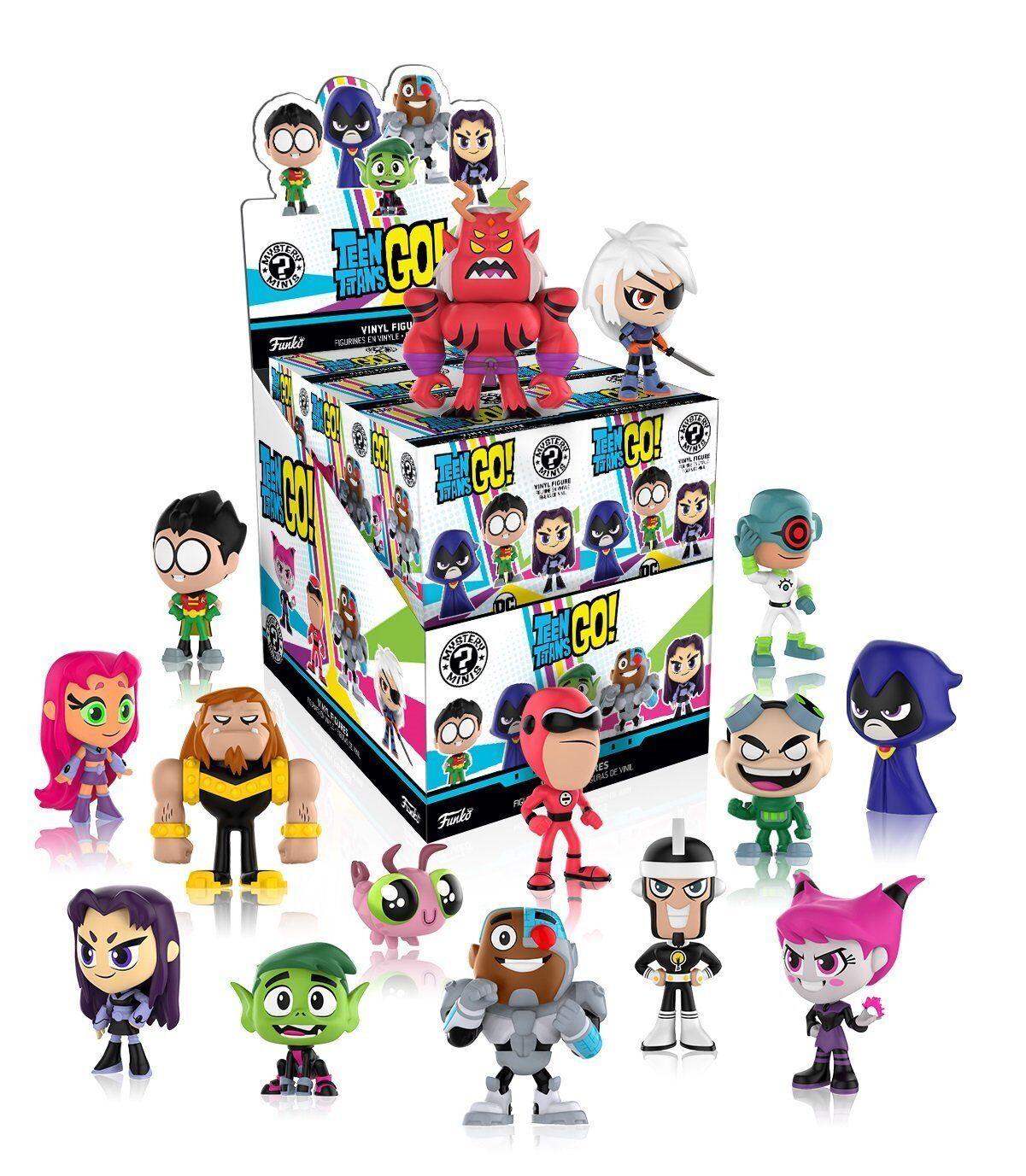 Mystery Minis Teen Titans GO  12 piece PDQ Funko 01391
