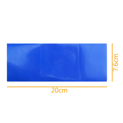 5 Pcs Fiber Blue Waterproof Adhesive Patch Repair Tape Canvas Tent Awning Swag
