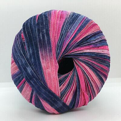 "Berlini Ribbon Yarn #137 Clematis Purple Mauve Pink 50gr 88yd 3//8/""wide Memento"