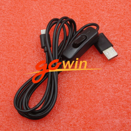 2PCS 1.5m Micro USB Power Supply Charger Cable w// ON//OFF Switch For Raspberry Pi