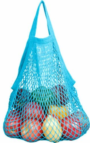 ECOBAGS® Market Collection Classic String Market Bags Tote Handle Caribbean Blue