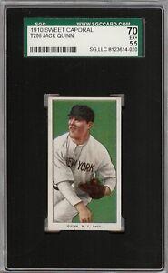Rare 1909-11 T206 Jack Quinn Sweet Caporal 350 New York SGC 70 / 5.5 EX +