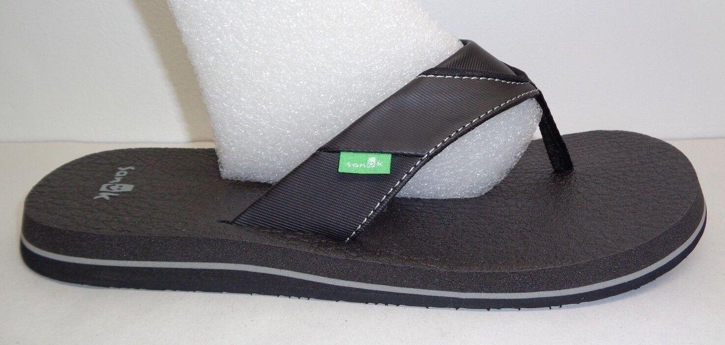 Sanuk Taglia 11 BEER COZY Yoga Mat Flip Flops Thongs Sandals New Uomo Scarpe