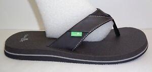 18381916b3da4 Sanuk Size 11 BEER COZY Yoga Mat Flip Flops Thongs Sandals New Mens ...