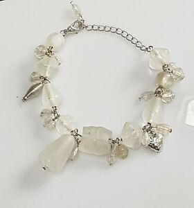 Handmade-beautiful-frosted-glass-bead-bracelet-with-charms