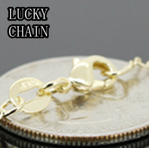 """24/""""+ 3.8/"""" 14K GOLD FILLED ROSARY CHAIN NECKLACE NEVER FADE 3mm //11g E619"""