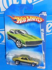 Hot-Wheels-2009-Dream-Garage-Series-149-039-67-Camaro-Satin-Green-w-5SPs