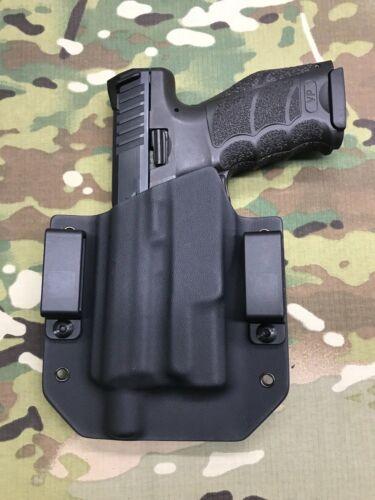 Black Kydex Holster for H/&K HK VP9 Threaded Barrel Inforce APLc