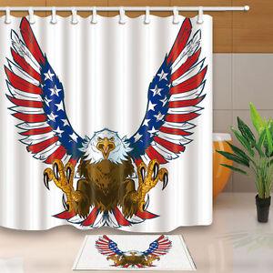 Image Is Loading Screaming Bald Eagle Shower Curtain Bathroom Decor Fabric
