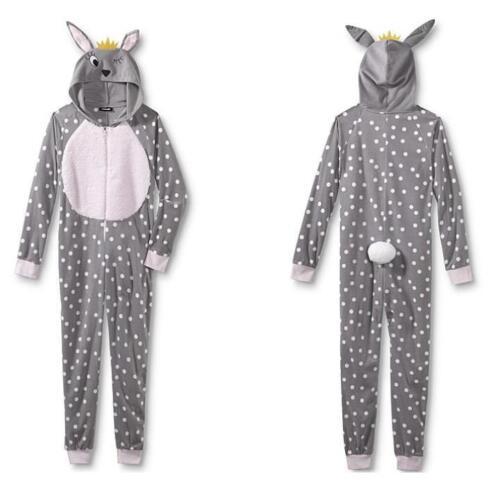 Bunny Rabbit ~  One Piece Union Suit Jumper Pajamas ~ Ladies Women/'s  M L  ~ NWT