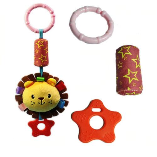Newborn Infant Baby Pram Handbell Stroller Soft Hanging Toy Animal Rattles 6A