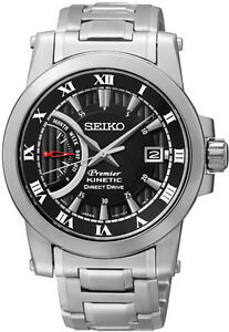 Seiko SRG009 SRG009P1 PREMIER Mens Kinetic Direct Drive Watch RRP $895.00
